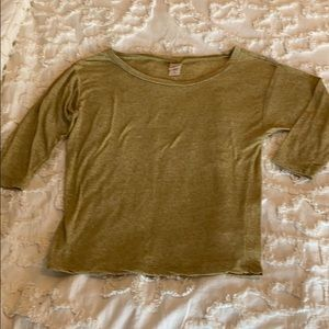 Mossimo Supply Co Mustard Yellow 3/4 Sleeve Top M
